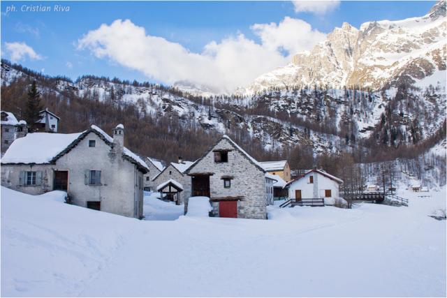 Ciaspolata sul Monte Cazzola: alpe Devero, località Pedemonte
