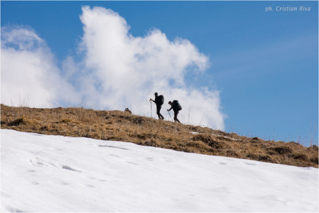 Ciaspolata sul Pizzo Baciamorti: escursionisti