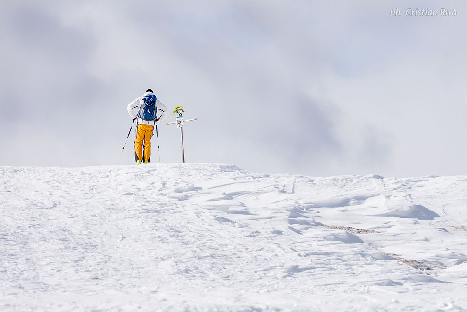 Ciaspolata sul Monte Cazzola: vetta del monte Cazzola