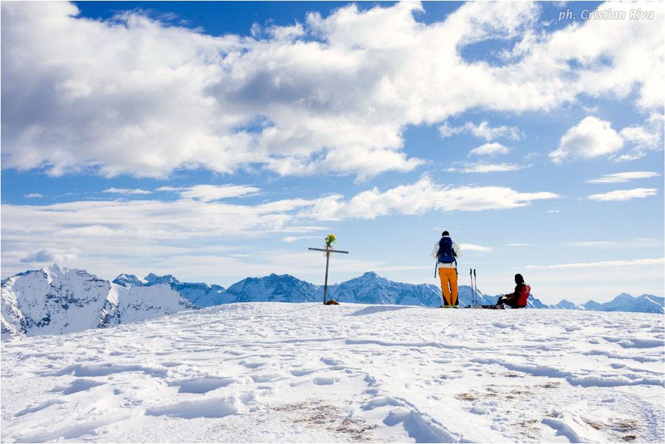 Ciaspolata sul Monte Cazzola: sulla vetta del Monte Cazzola