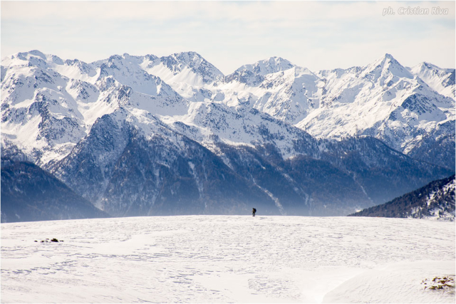 Ciaspolata sul Monte Pagano: piccoli difronte all'enormità delle montagne