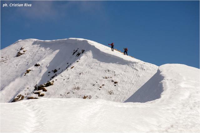 Ciaspolata sul Pizzo Baciamorti: la cresta