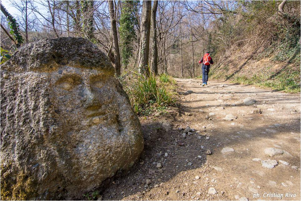 Monte Canto: lungo la sterrata le sculture di Vanni Battaglia
