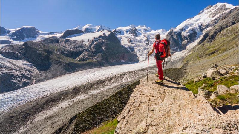 Capanna Boval e ghiacciaio Morteratsch