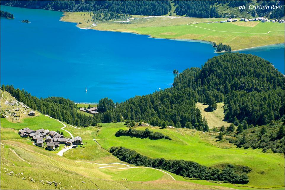 Grevasalvas ed il villaggio di Heidi: lago Sils e villaggio Grevasalvas