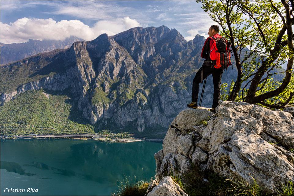 Monte Moregallo via Preguda: panorama sul Lario