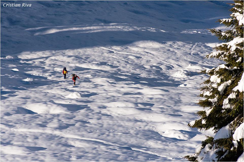 Ciaspolata monte Arete: escursionisti