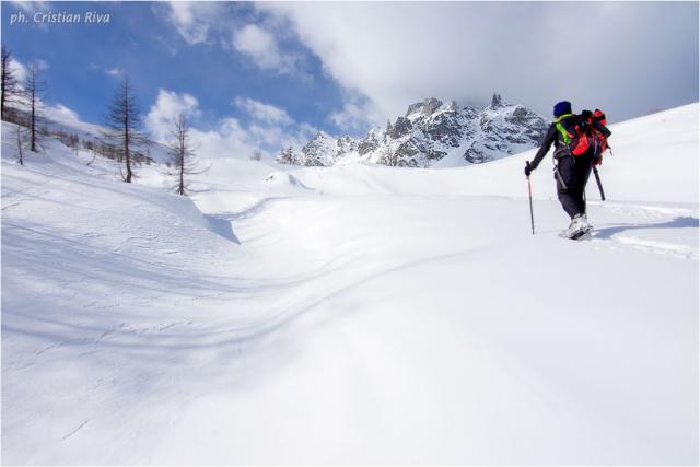 Ciaspolata sul Monte Cazzola: nel grande nord
