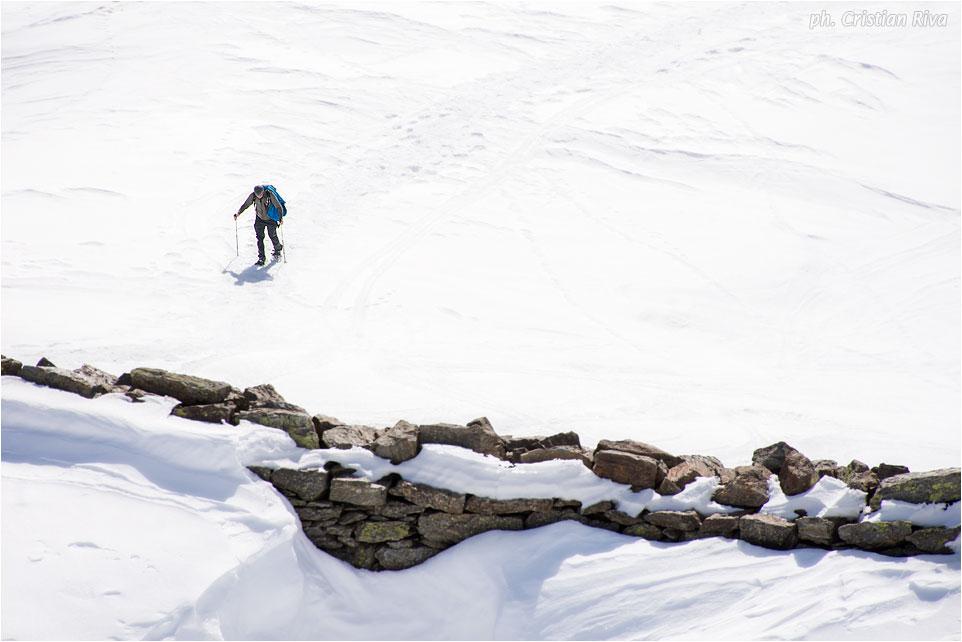 Ciaspolata sul Monte Pagano: trincea