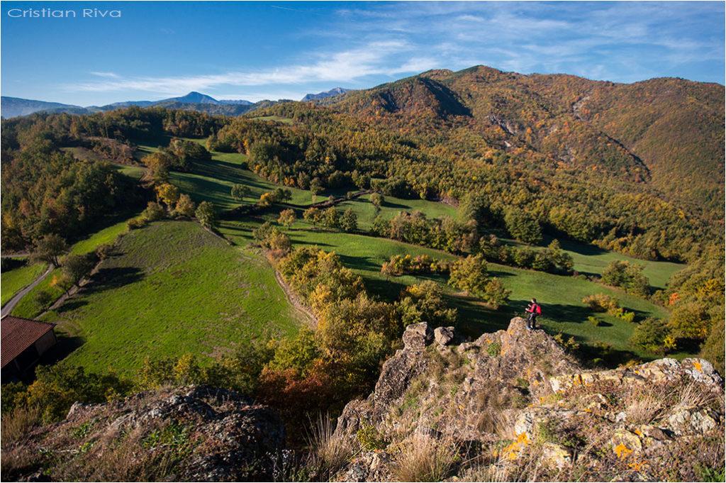 Val Trebbia - Anello del Brugnello: panorama dal Bric Carana