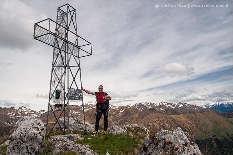 Cima Ezendola: la croce sulla cima Ezendola