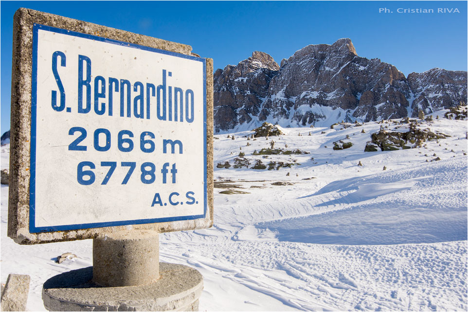 Ciaspolata a San Bernardino: passo San Bernardino