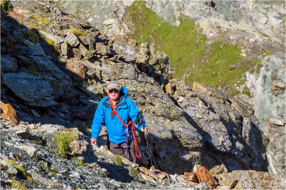 Piz Lunghin: escursionista