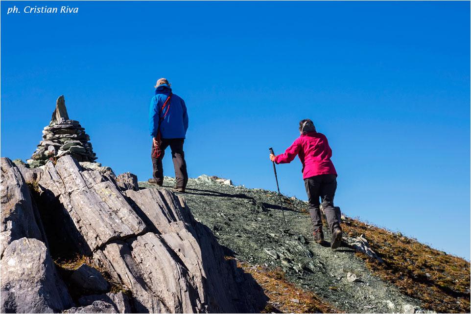 Piz Lunghin: escursionisti