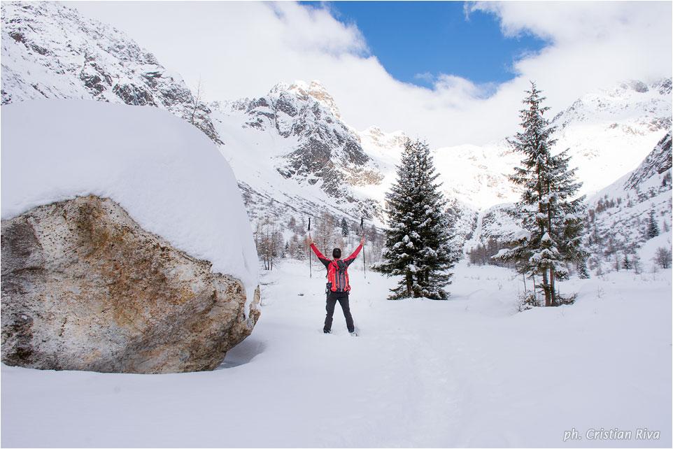 Ciaspolata in Val Canè: immenso