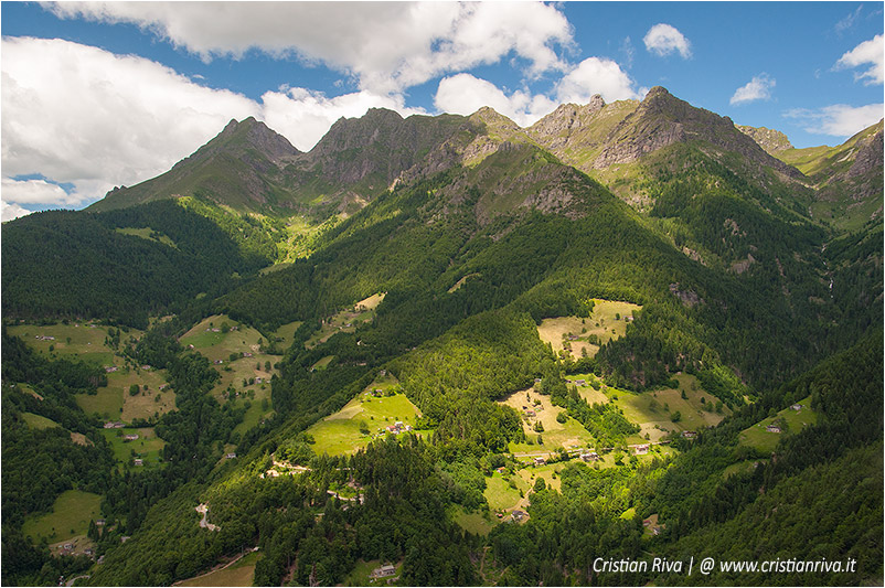 Pizzo di Cusio e Monte Disner: panorama verso il Pizzo Tre Signori