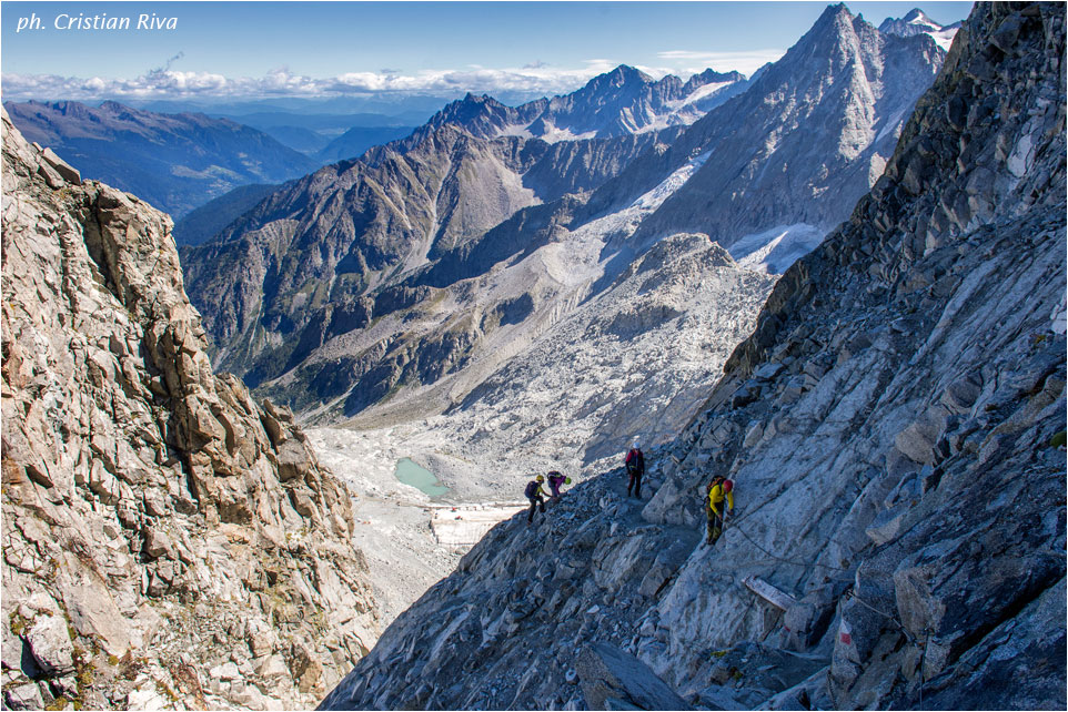 Sentiero dei Fiori: panorama verso il ghiacciaio Presena