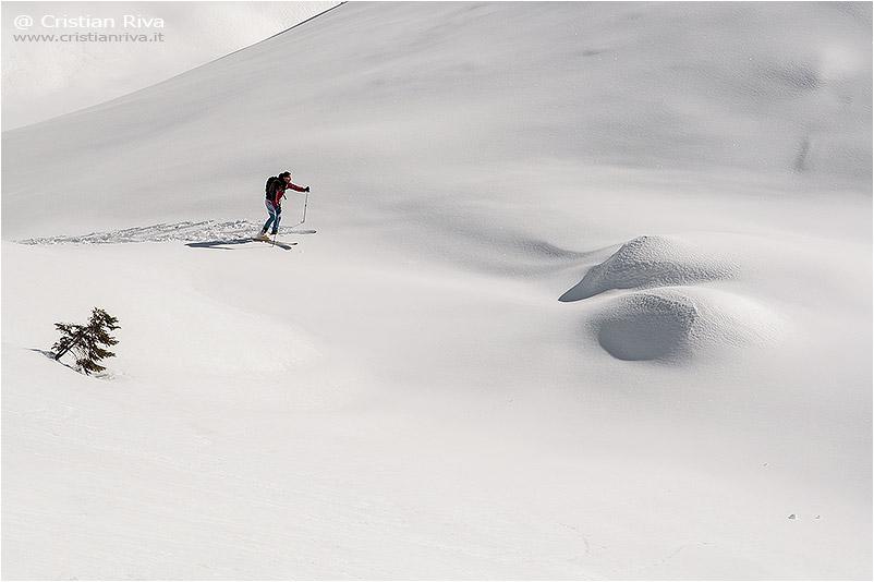 Invernale al Pizzo Corzene: scialpinista