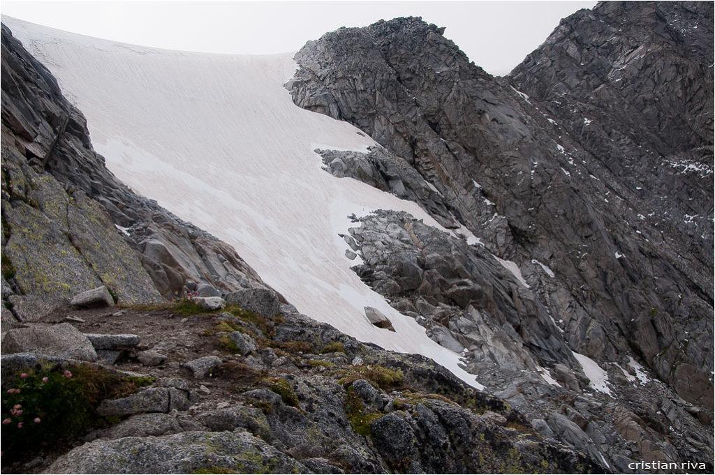 Monte Adamello via Terzulli: la lingua del ghiacciaio Pian di Neve
