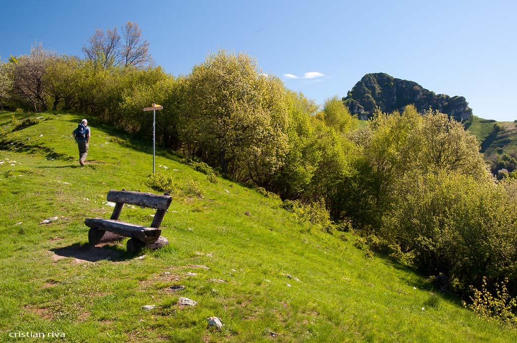 Sasso Gordona ad anello: escursionista svizzero