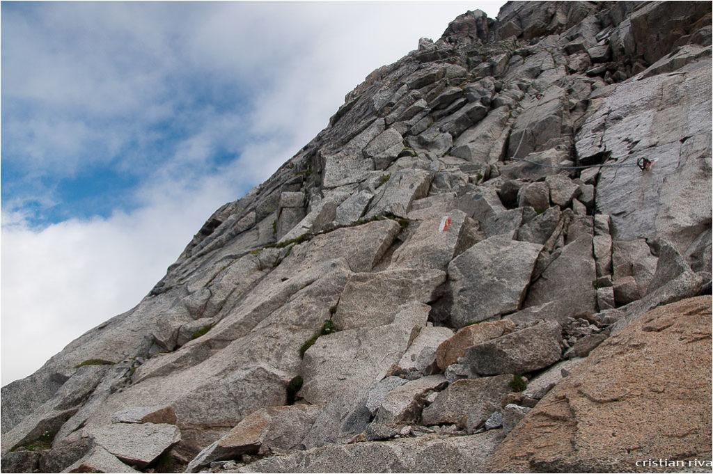 Monte Adamello via Terzulli: attacco della via Terzulli