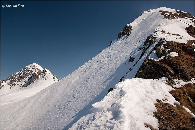Ciaspolata su Monte Arete e Valegino: la vetta del monte Valegino