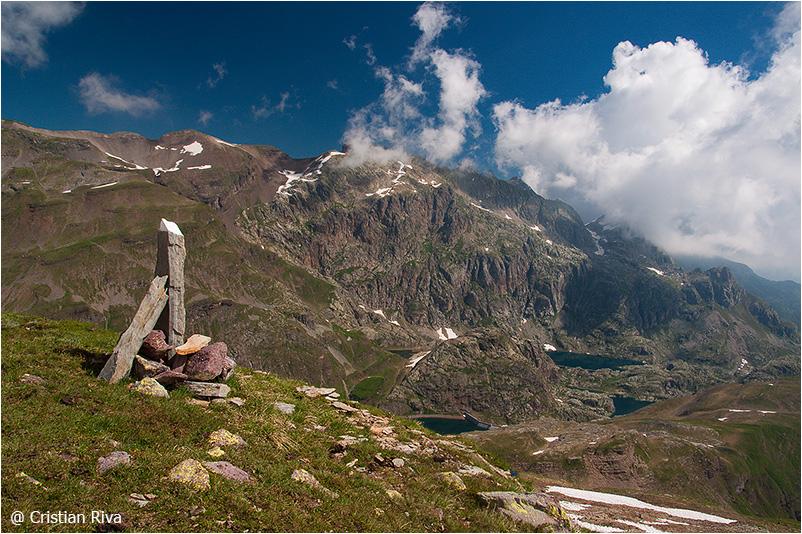 Monte Pradella: panorama sui laghi di Valgoglio