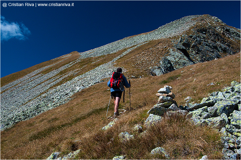 Monte Masoni: verso il monte Venina