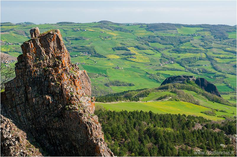 Pietra Parcellara e Pietra Perduca: roccia e colline