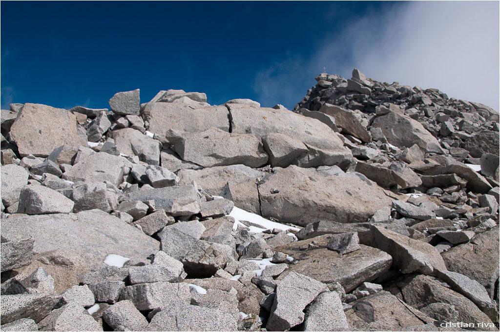 Monte Adamello via Terzulli: in prossimità della vetta