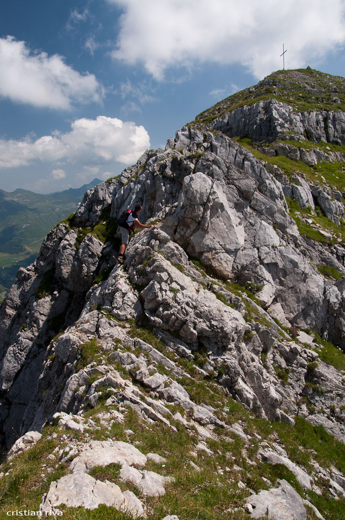 Monte Pegherolo: traverso esposto