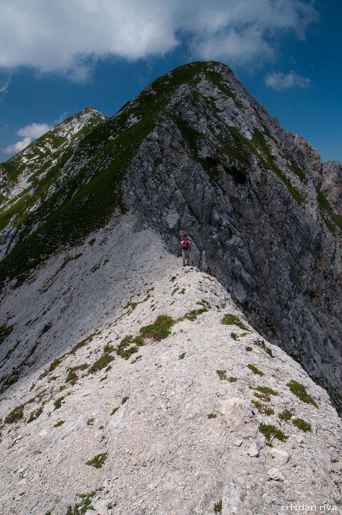 Monte Pegherolo: cresta della Piodessa