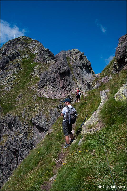 Monte Pradella: verso il tratto attrezzato