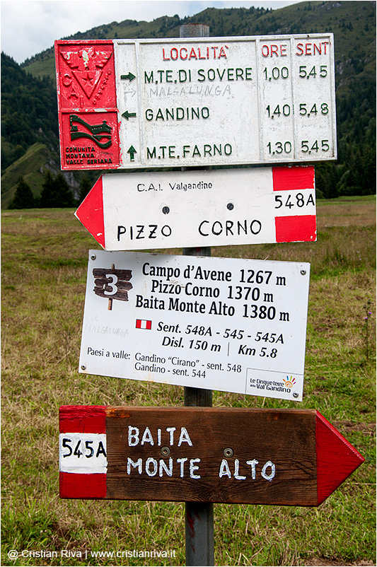 Valgandino Traversata tra i Pizzi: indicazioni a Campo d'Avene