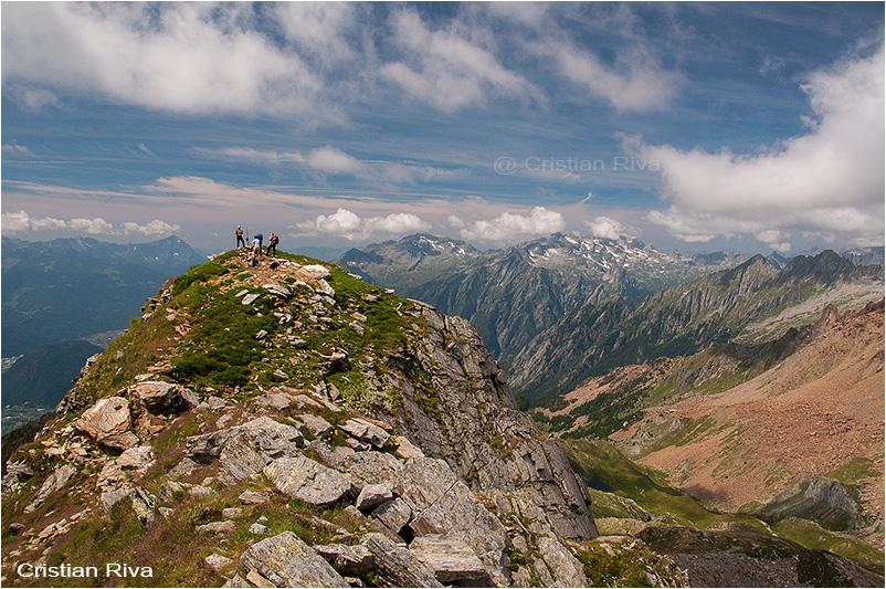 Pizzo Bello: escursionisti