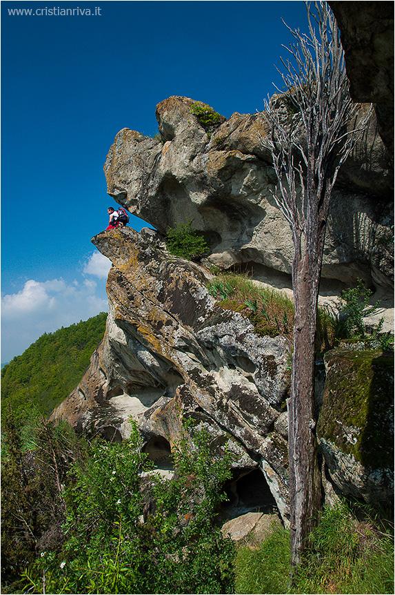 Val Tidone e la Rocca d'Olgisio: grotta della goccia