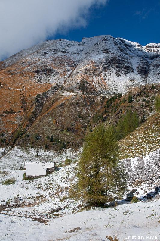 Lago Spigorel e la prima neve