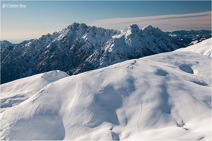 Monte Grem e Monte Golla: panorama verso l'Alben