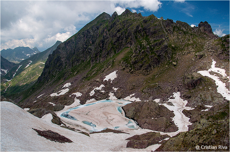 Monte Pradella: cime di Valsanguigno e lago Gelato