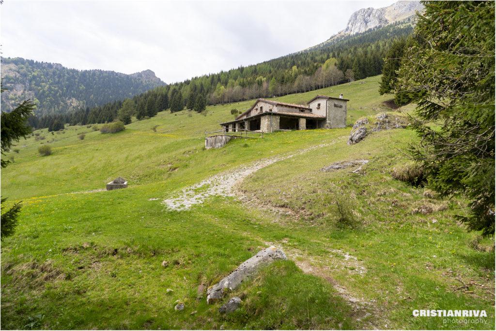 Pizzo Corzene dal sentiero delle capre: malga Corzenina