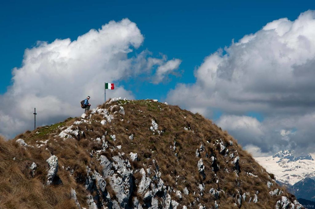 Monte Pizzoccolo dalla Cresta Sud: escursionisti