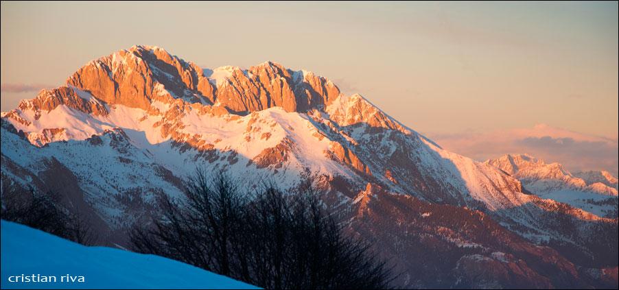 Tramonto su Montagnina e Pizzo Formico
